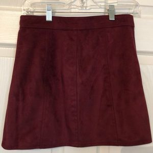 Forever 21 Skirts - Faux suede deep red mini skirt